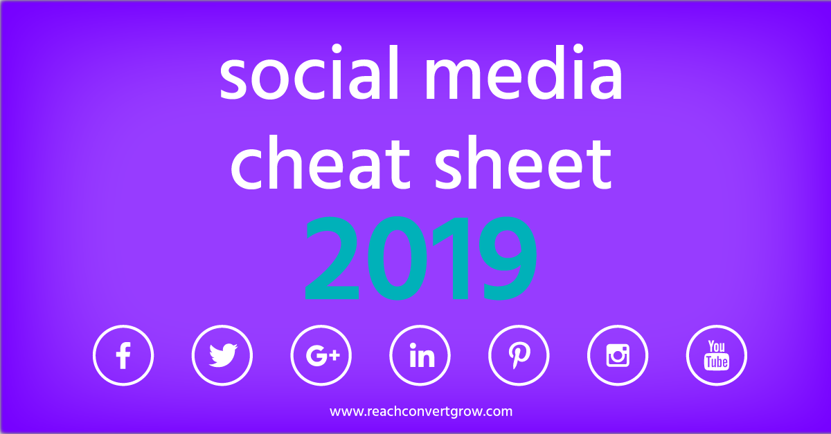 social media cheat sheet and sizes for 2019
